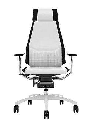 sedia ergonomica genidia white